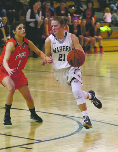 Margo Loutzenhiser scored a game-high 20 points in a 47-37 win at Strong Vincent on Thursday.