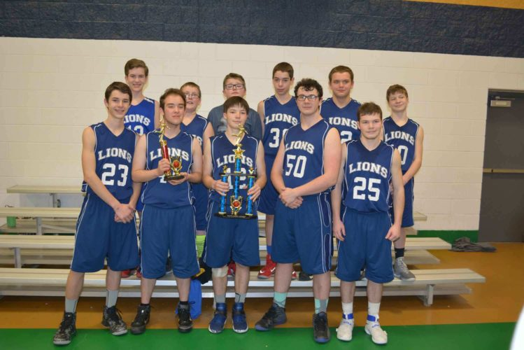Shown are the 2017 New Penn Christian Conference champions, the Warren County Christian School Lions. Back row (left to right): Josiah Hepler, James Carpenter, Conner Bailey, Ethan Kerr, Ryan Weidner, Danny Jones. Front row: Front Row: Stephen Brenner, Grady Wiles-Shaw, Tommy Jones, Josiah Poindexter, Joshua Jones.