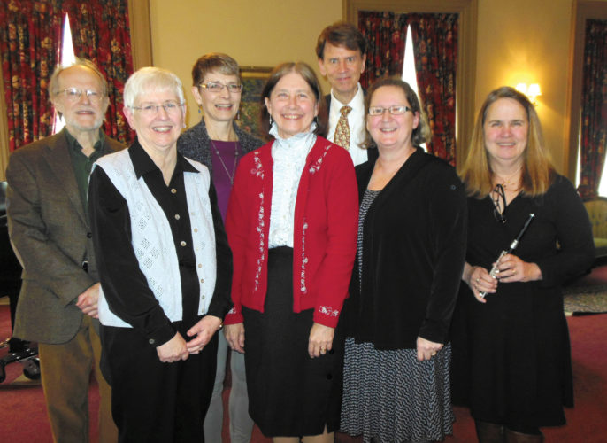 Photo submitted to Times Observer From left are performers Joseph Dolan, Kathy Neal, Mary Beth Whiting, Vera Finger, Jack Hemink, Cathy Peterson, and Rebecca Darbee.