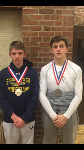 Eisenhower's Logan Jaquay (left) and Spencer Head both advanced to the Northwest Regional 2A Tournament with fifth place finishes at the District 10 championships in Sharon on Saturday.