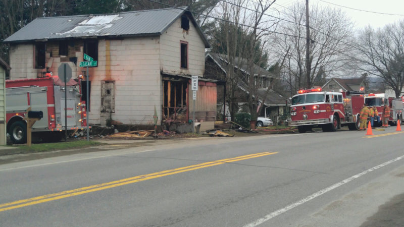 The fire at 210 S. Main Street Monday night, which is still under investigation, restarted Tuesday night around 7:30 p.m. The Clarendon VFD responded and returned to the station by 8:30 p.m., according to Assistant Fire Chief Terry Gregerson. (Photo provided by Jon Sitler)