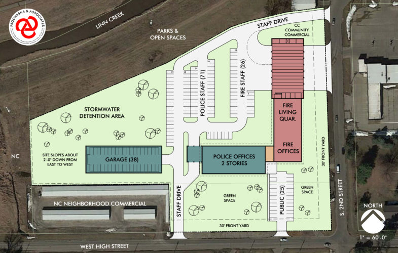 CONTRIBUTED IMAGE In 2016, the Marshalltown City Council selected the former EconoFoods site, 909 S. Second St., as location for a proposed joint-use police and fire building. Voters approved the project earlier this year. The depicted design is preliminary.