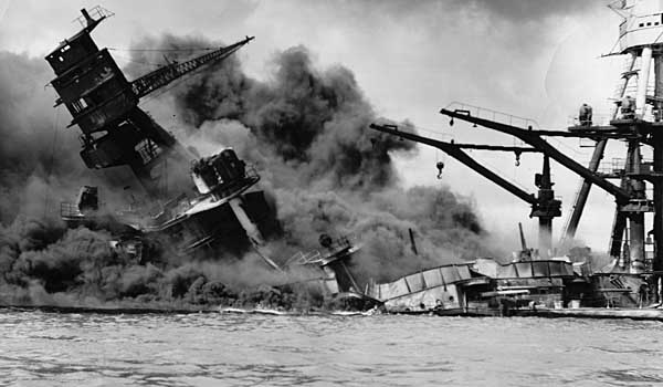CONTRIBUTED PHOTO The devastation wrought on the USS Arizona during the Dec. 7, 1941 attack on Pearl Harbor is one of the most iconic photographs taken during World War II.