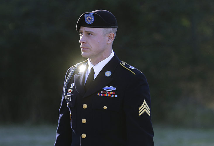 AP PHOTO In this Jan. 12, file photo, Army Sgt. Bowe Bergdahl arrives for a pretrial hearing at Fort Bragg, N.C.
