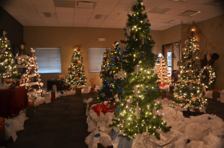 The annual Festival of Trees created a nice ambience in the Alexander Meeting Room of the Conrad Public Library.