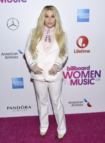 AP PHOTO Kesha attends the 11th annual Billboard Women in Music honors at Pier 36 on Friday, in New York. Billboard Women in Music 2016 will air Dec. 12 on Lifetime.