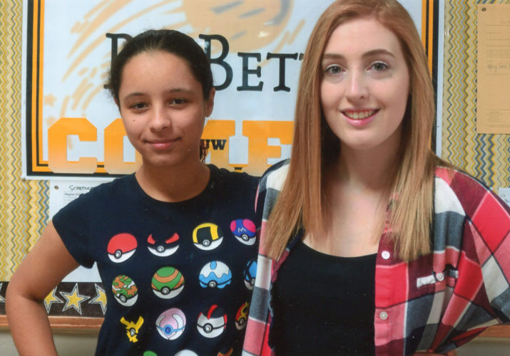 CONTRIBUTED PHOTO Helen Beyer, right, and Cierra Clemons, seniors at BCLUW, have been chosen by the Conrad American Legion Auxiliary as the 2017 Girls State attendees.