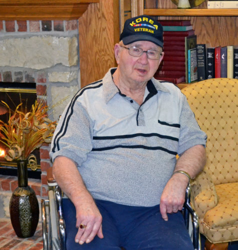T-R PHOTO BY SARA JORDAN-HEINTZ Clarence Mann, 84, of Marshalltown, served for 21 months and 21 days in the U.S. Army during the Korean War. He was stationed for most of his stint in Seoul, Korea, serving as an ambulance driver.