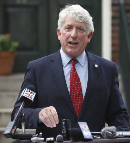AP PHOTO In this Sept. 2, 2015 file photo, Virginia Attorney Gen. Mark Herring announces that he will seek re-election to his current post in 2017, in Richmond, Va.  The U.S. Department of Justice gave instructions on how to work around its own strict rules for spending money seized in investigations to Virginia's top prosecutor, according to documents obtained by The Associated Press.