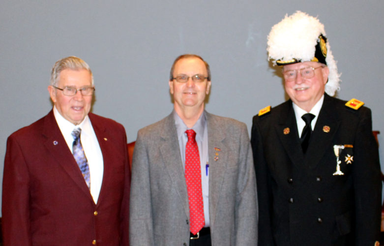 CONTRIBUTED PHOTO 2017 leaders for the Marshalltown York Rite bodies are (left to right): Donald D. Lynk, Illustrious Master of King Solomon Council No. 20, R. & S.M.; Steven E. Smith, Excellent High Priest of Signet Chapter No. 38, R.A.M. and John M. Klaus, Eminent Commander of St. Aldemar Commandery No. 30, K.T.