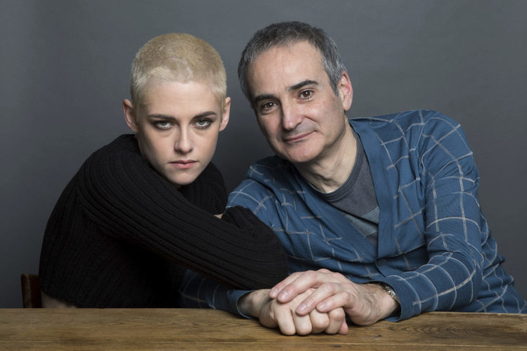 "AP PHOTO Kristen Stewart, left, and writer-director Olivier Assayas pose for a portrait to promote their film, ""Personal Shopper,"" on Thursday, in New York."