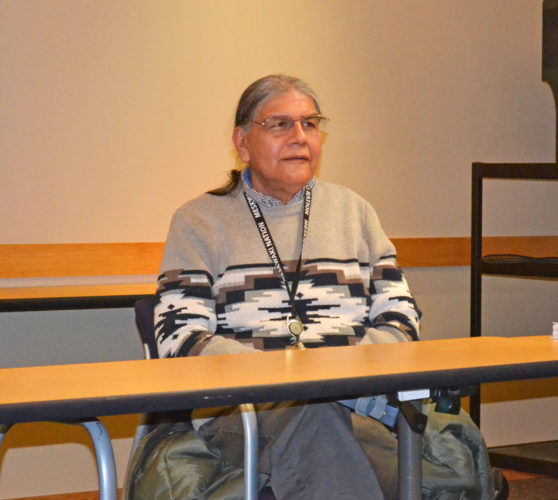T-R PHOTO BY SARA JORDAN-HEINTZ Tuesday afternoon inside the Y's Horne Henry Center, Johnathan L. Buffalo, historic preservation director/tribal historian of the Meskwaki Nation, gave an hour-long history of the tribe, as part of the YMCA-YWCA's Health Forum Series Spring 2017. The forums, free and open to the public, are held each Tuesday in March and April, from 11 a.m. to noon.