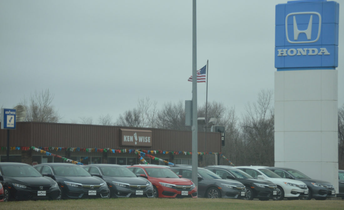 T-R PHOTO BY MIKE DONAHEY  Pictured is a portion of the Ken Wise Buick-GMC-Honda property at 1000 N. 3rd St. That dealership, as well as the Ken Wise Chrysler-Jeep-Dodge and Wise Auto Credit businesses were recently sold.