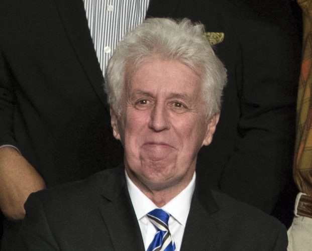 "AP PHOTO In this Dec. 15, 2016, photo, CNN commentator Jeffrey Lord, appears at a rally for President-elect Donald Trump in Hershey, Pa. Lord made a comparison of Trump to Martin Luther King Jr., on CNN's morning ""New Day.""  He is one of a handful of pro-Trump commentators that CNN hired during the last election."
