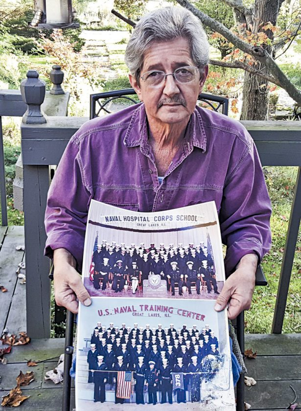 Tribune Chronicle / Marly Kosinski David MonteCalvo of Bazetta spent his Navy career from 1970 to 1974 stateside during the Vietnam era, serving first as a hospitalman in the thoracic plastic surgery unit at St. Albans Naval Hospital in New York.