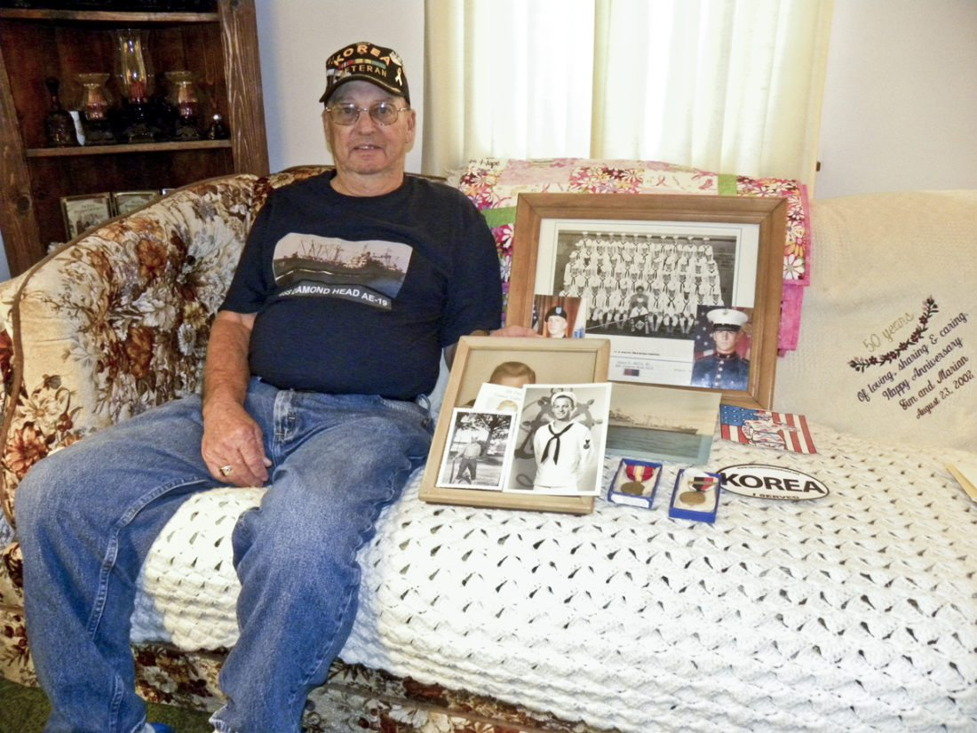 James O. Smith, U.S. Navy veteran, 1952 - 1956.