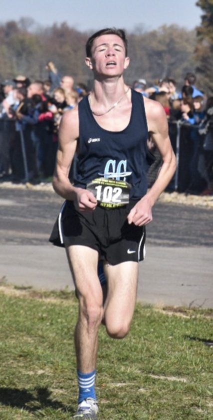Tribune Chronicle / John Vargo Maplewood's Nick Cowger comes down the stretch at Saturday's Division III boys cross country state race in Hebron. Cowger's 16th-place finish led the Rockets, who finished third in their bid for a third straight D-III state championship.