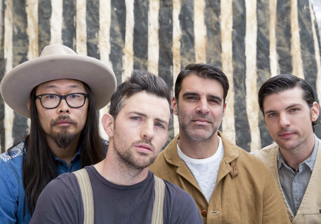 American Recordings The Avett Brothers — from left, Joe Kwon, Scott Avett, Bob Crawford and Seth Avett — will play two shows next week at the Akron Civic Theatre.