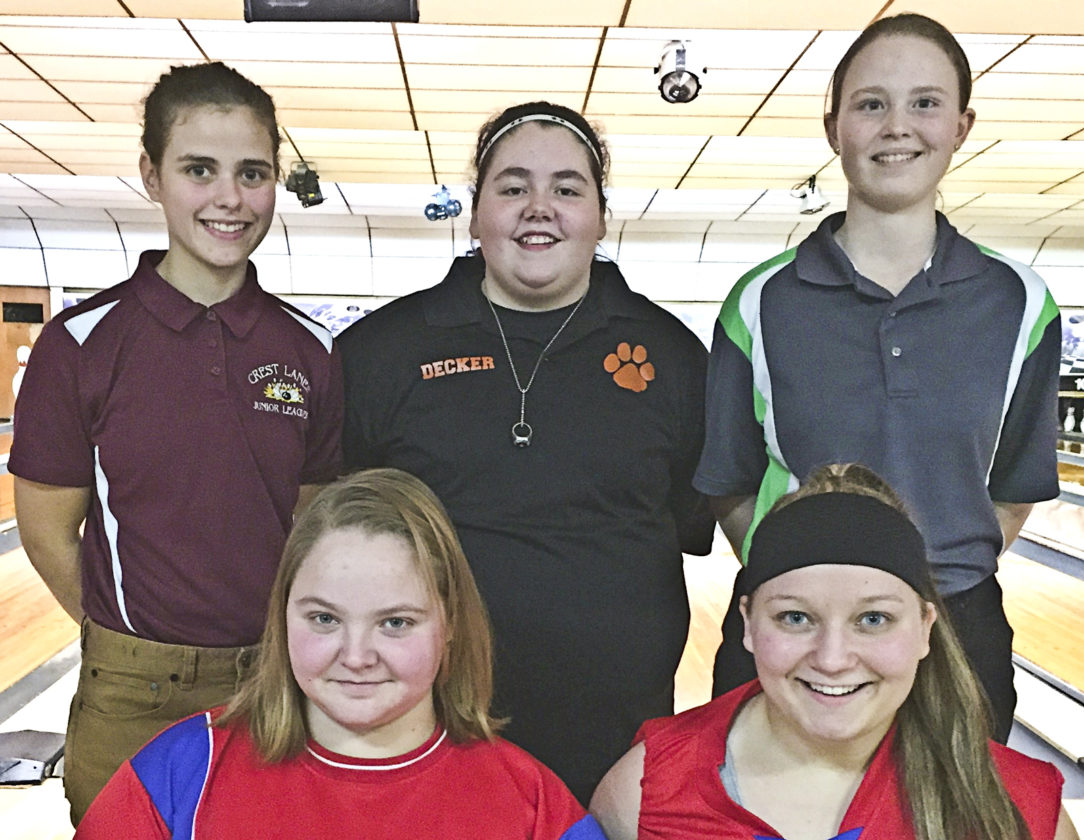 Girls qualifiers and the alternate are (front, from left) Danielle Kyser, alternate Brianna Protain, (rear, from left) Katelyn Daugherty, Susan Decker and Jessica Guesman.