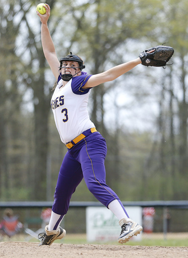 Tribune Chronicle file McKenzie Zigmont pitched Champion to the regional tournament last spring, her junior year, and her first season as the Golden Flashes' primary pitcher.