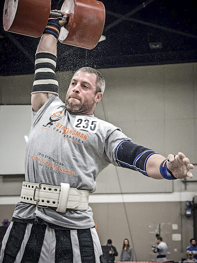 Special to Tribune Chronicle John F. Kennedy graduate Richard Stout added a Strongman national title to the Strongman world title he had won previously.