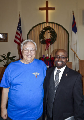 Tribune Chronicle / Bob Coupland  Bolindale Christian Church marked its 90th anniversary in November. Pastor Ray Blasko, left, was joined by guest speaker the Rev. William Edwards, regional pastor, for the celebration acknowledging the accomplishments of the Howland church.