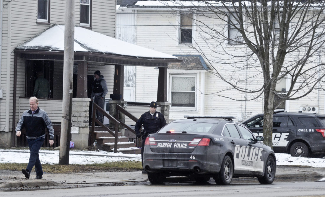 021617...R SHOOTING 2...Warren...02-16-17... WPD investigates a shooting in the 2000 block of West Market St. Thursday afternoon...by R. Michael Semple