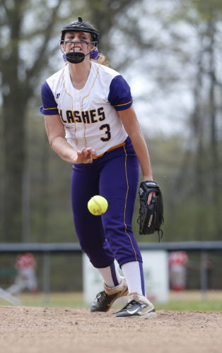 Tribune Chronicle file / Michael Taylor Champion's McKenzie Zigmont throws toward home plate last season. The Golden Flashes, who won the Division III state title in 2015, hope to get back to state this season.