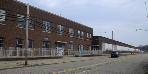 Tribune Chronicle / R, Michael Semple This is an exterior view of the former Delphi plant where Warren native Christopher  Allen wants to build his AutoParkit manufacturing facility. He said he met with the property owner last week and expects to hear soon about the sale of the land.