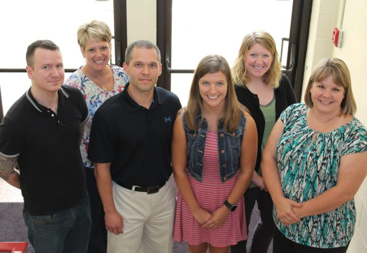 NEW FACULTY — Among new faculty at West Liberty University during the new school year are, from left, Corey Call, Erin Thornburg, Jason Metz, Stephanie Bradley, Kylie Updegraff and Kristie Meintel. -- Contributed