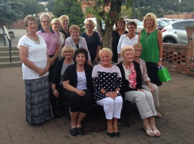ENDINGSEASON — The Dyer Ladies League held its final awards banquet on Sept. 20. On hand were, seated, from left, Sharon Coleman, Signa Findlay, Mary Alice Meyer, Betty Kelly and Arlene Owens; and standing, Mary Arehart, Mary Ann Bainbridge, Patty Filak,Teri Barkley, Deb Phillippi, Kathy Sapp, Ruth Lamantia, Paula Hope and Vickie Grant. Cindy Montgomery also attended. -- Contributed