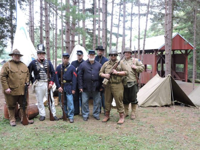 CIVIL WAR RE-ENACTORS — The Iron City Guard, a group of military history re-enactors specializing in the Civil War, had an encampment Sept. 17 at the Hanover Township Park during the Washington and Greene Counties Covered Bridge Festival.