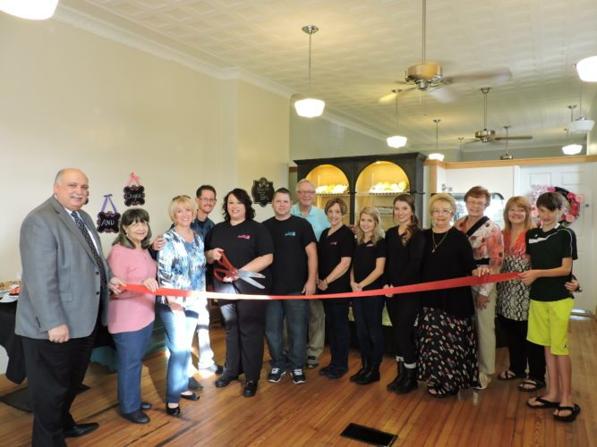 Vanessa's Sweet Temptations recently opened at 3666 Lindberg Way in Weirton, and were joined by representatives of the Weirton Area Chamber of Commerce and others to celebrate. For more information about the business, or to place an order, call (304) 224-1454. -- Craig Howell