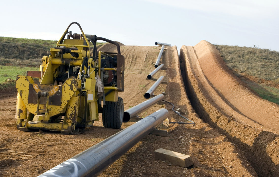 PIPELINE WORK — As contractors continue working on pipelines to move Marcellus and Utica shale natural gas across America, public interest groups in West Virginia and Virginia continue protesting some of the projects.  -- Contributed
