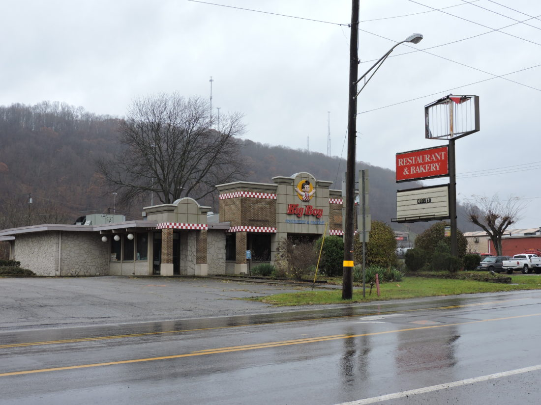 CONSTRUCTION SITE — This property at 4156 Freedom Way in Weirton, previously the home of an Elby's Big Boy restaurant, will be part of a new business development expected to begin construction in the spring. J.S.K. Realty Co. the current owner of the property, appeared before the Weirton Zoning Board of Appeals Tuesday to request a conditional use permit for the project with BFS Companies. -- Craig Howell