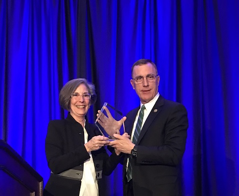 HONORED — Katherine Nordal, American Psychological Association Practice Organization executive director, presents U.S. Rep. Tim Murphy, R-Upper St. Clair, with the 2017 Outstanding Leadership Award. -- Contributed