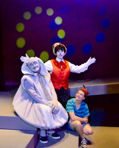 "Preparing for the upcoming productions of ""Seussical"" at West Liberty University are, from left, Horton the Elephant played by Brady Dunn, the Cat in the Hat played by Amanda Tamplen and JoJo played by Kerstin Bommer. — Contributed"