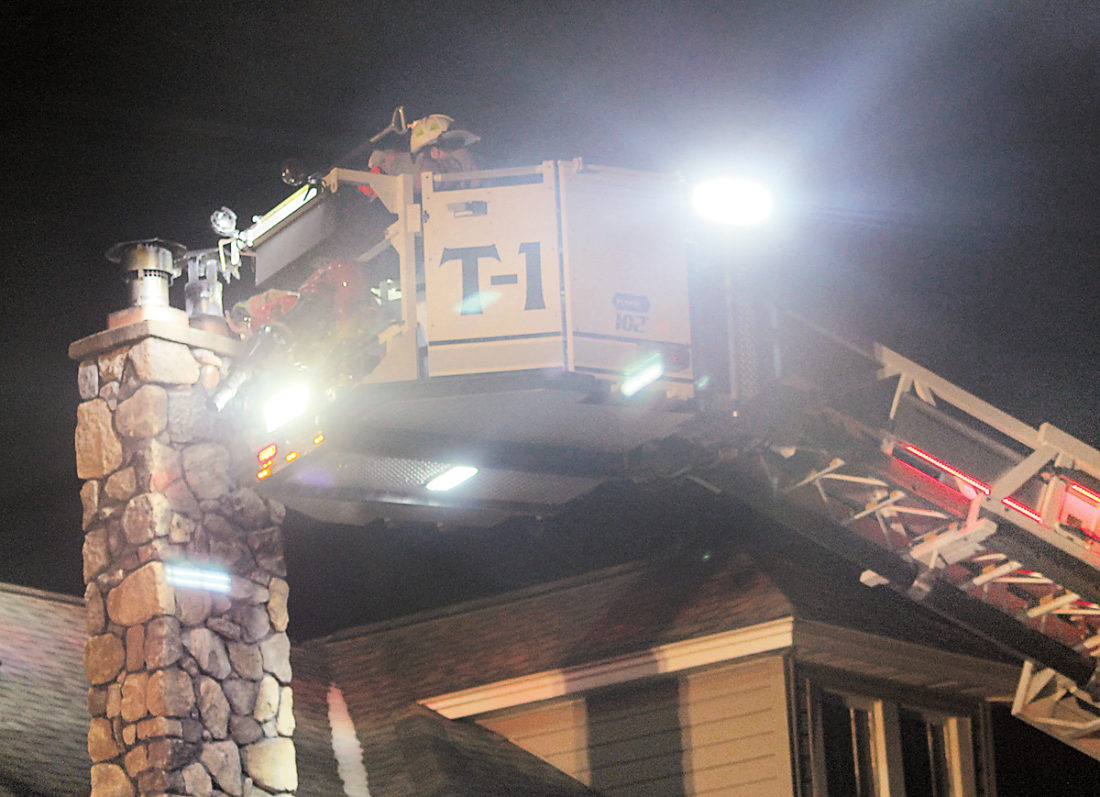 Chimney fire quickly snuffed news sports jobs the - Put out fire in fireplace ...