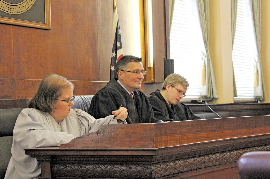 warren high school students testify to the benefits of mock trials photo by janelle patterson marietta assistant law director catherine reynolds from left washington county