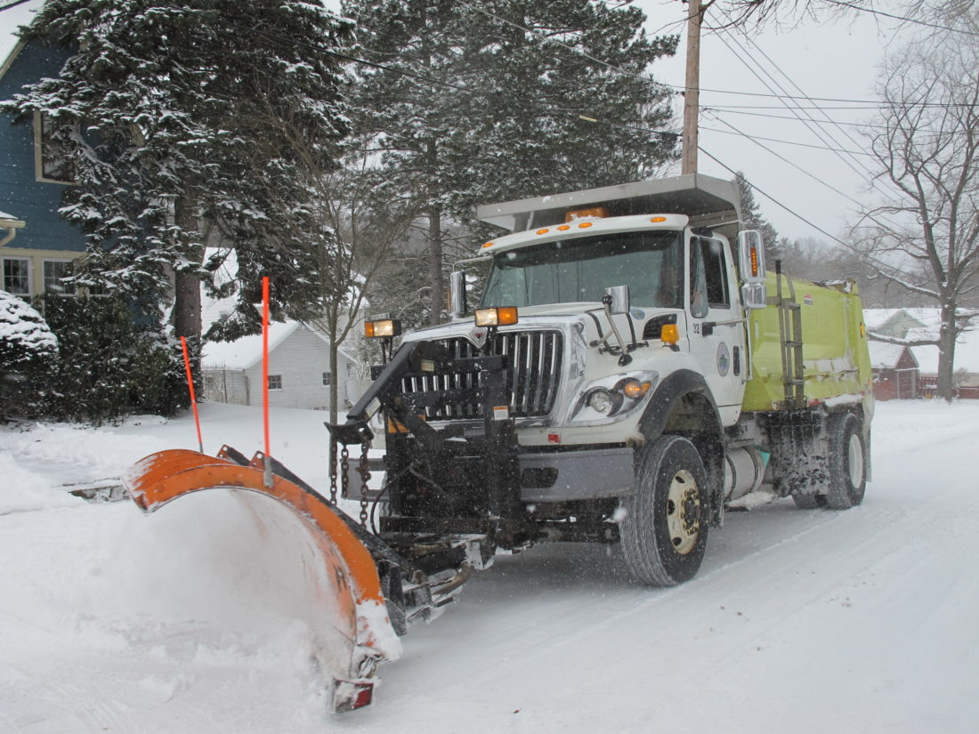 city plow drivers prepared for another round of winter weather a jamestown public works department driver plowing clark avenue on the west side of the city